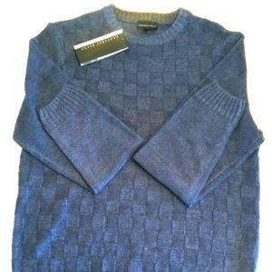 Geoffrey Beene Mens Basket-Weave Pullover Sweater